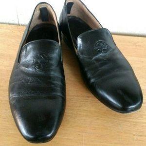 Alexander McQueen Shoes - Alexander McQueen Embossed Skull Loafers, Slippers
